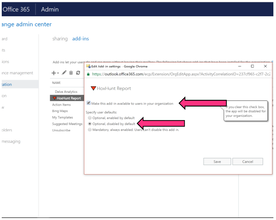 Deployment: Distributing Hoxhunt Outlook add-in – Hoxhunt
